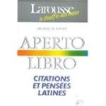 Aperto libro : citations et pensées latines