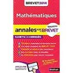 Annales du Brevet 2014 : Mathématiques 3e sujets et corrigés
